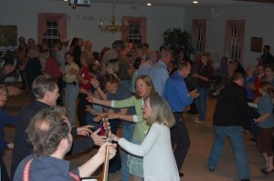 One of our rare contra dances... it gets a little crowded!