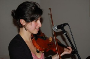 One of our favorite fiddlers/singers, Mia Friedman.